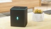 Smart speaker on a table