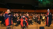 Dutilleux receiving Cardiff University Honorary Fellowship