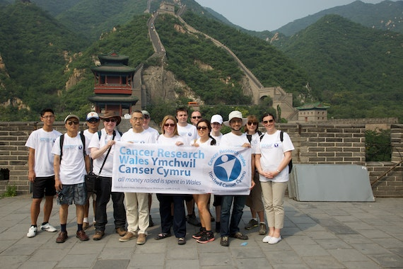 Cardiff China Medical Research Collaborative walking the Great Wall for Cancer Research Wales
