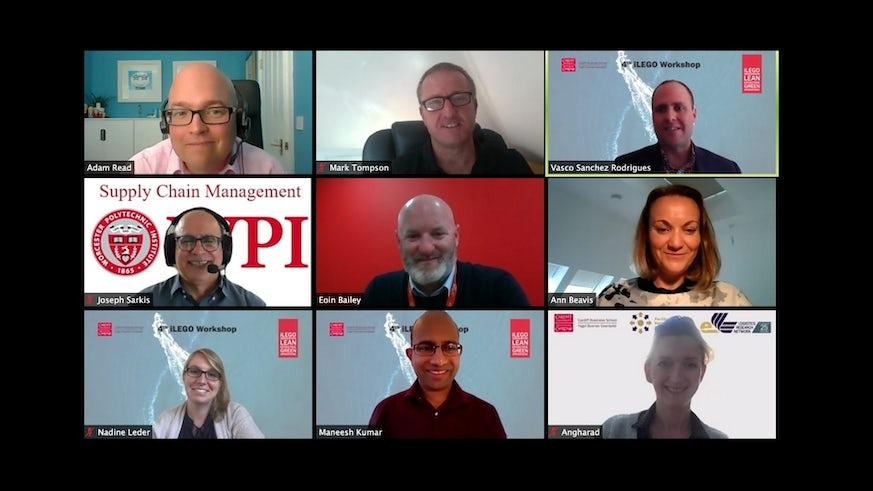 Group of people in Zoom meeting