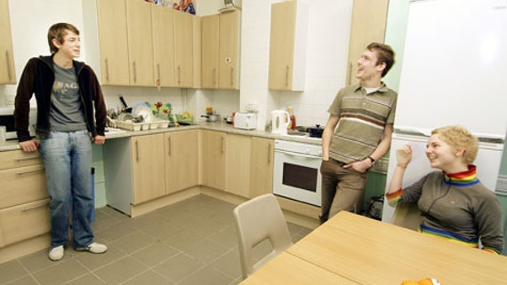 Kitchen at Student Houses Flats (Colum Road Place) 2