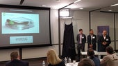 The Hydrosac team making their presentation.