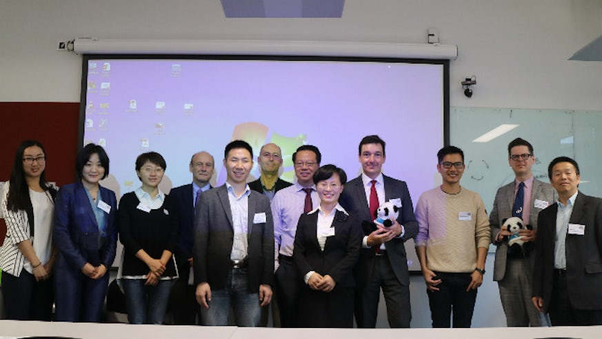 Image of Professor Martin Kitchener welcoming guests to the China in the Global Economy conference