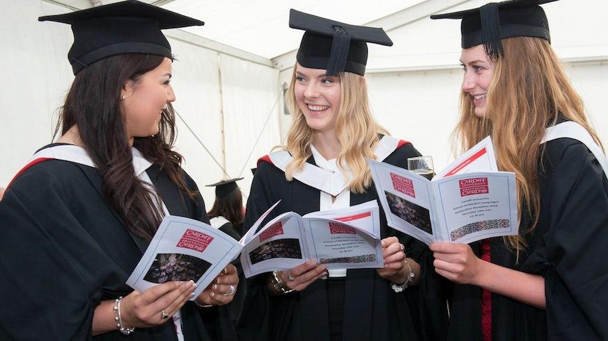Modern Languages students enjoy their post graduation reception