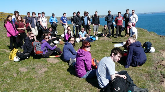 Students on fieldwork in Pembrokeshire