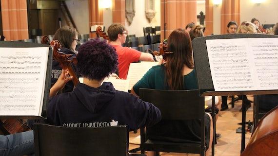 Cardiff University Symphony Orchestra rehearsal
