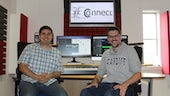 Dr Daniel Bickerton and Timothy Johnston in one of our studios