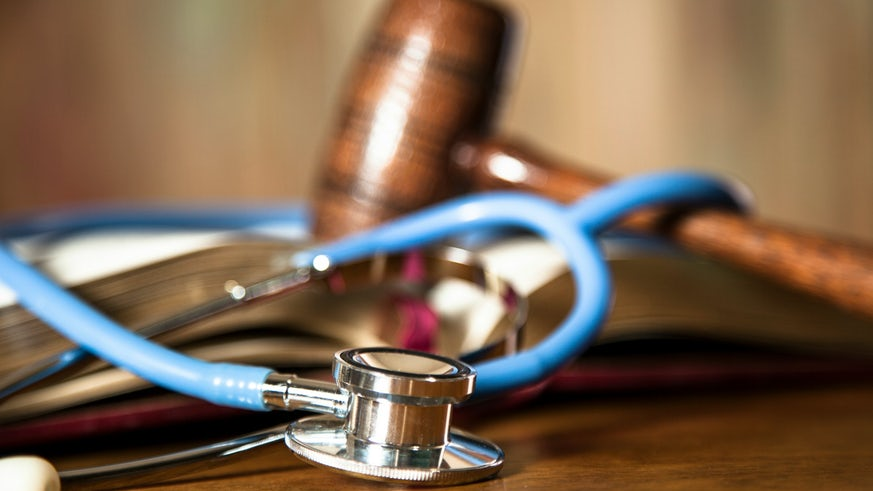 Stethoscope in courtroom