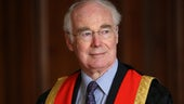 Sir Martin Evans wearing the Chancellor robes