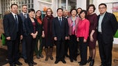 A delegation from Xiamen University visit the School of Modern Languages, home to Cardiff's Confucius Institute.