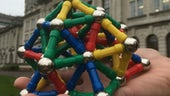 A topological framework model constructed from magnetic balls and sticks.