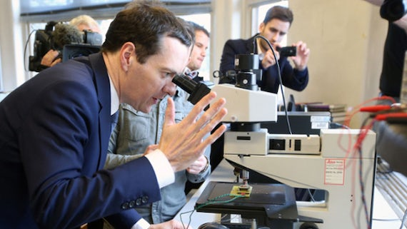 George Osborne on his visit to the School of Physics and Astronomy