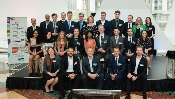 Image of multiple winners of the 2017 Targetjobs Undergraduate of the Year awards