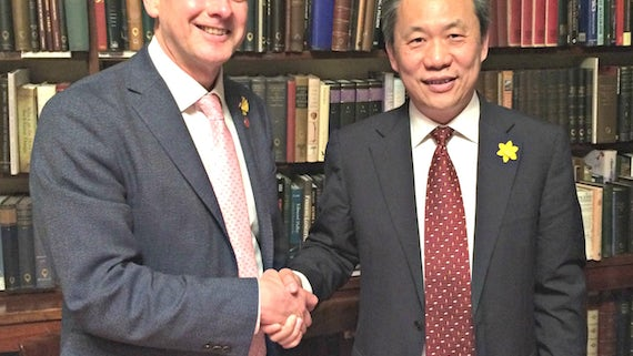 VC and Mr Han, Chairman of RealCan