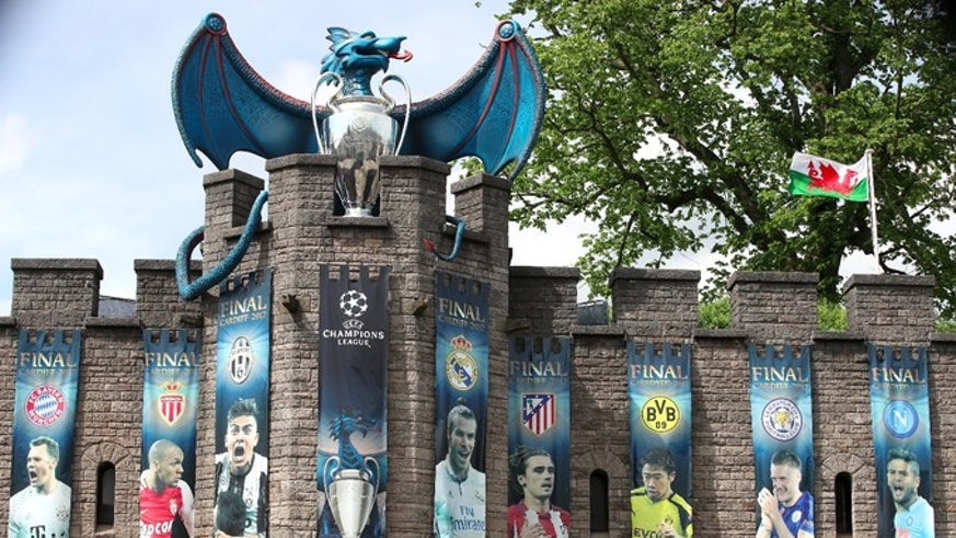 Cardiff Castle during the Champions League festivities