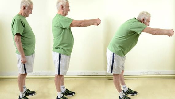 Man performing exercise routine