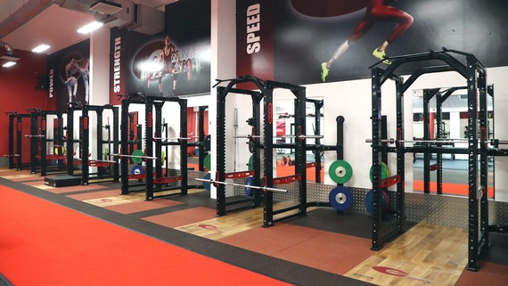 racks in conditioning room