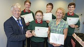 Image of Tryfan students receiving award