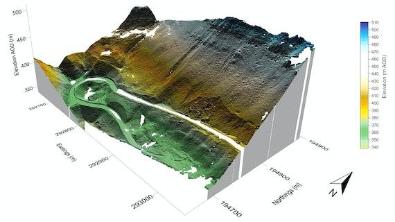 Terrestrial 3D laser scans