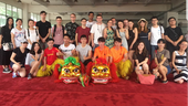 Students on trip to China