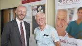 Professor Gray and BRAIN Involve member Peter Roberts