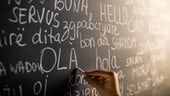 Languages on a blackboard