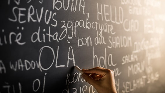 Languages on a blackboard