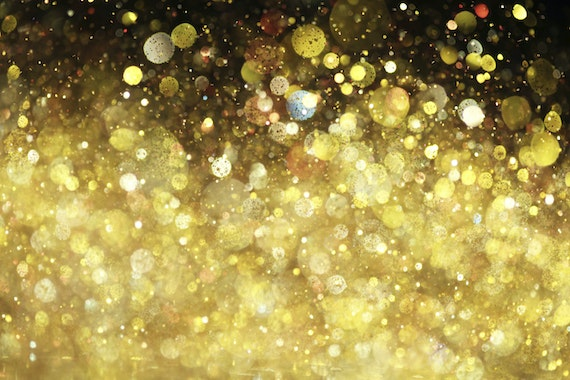 Close-up of sparkling gold