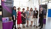 Picture of the speakers at the NMHRI and TWF research day