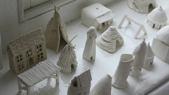 The Whole Shebang by Amy O'Driscoll, featuring porcelain shelters