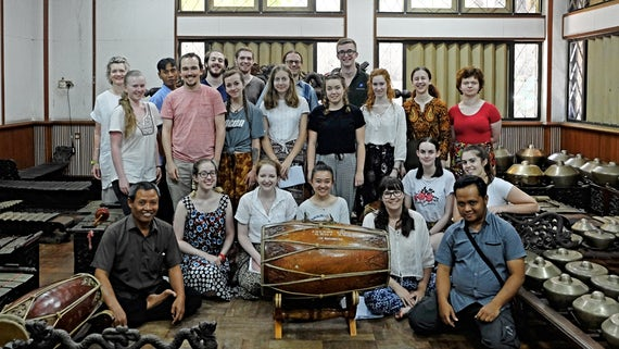 Cardiff University Gamelan Ensemble at Institut Seni Indonesia Surakarta