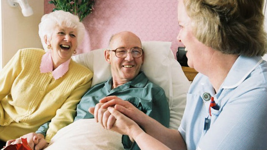Care home residents and nurse