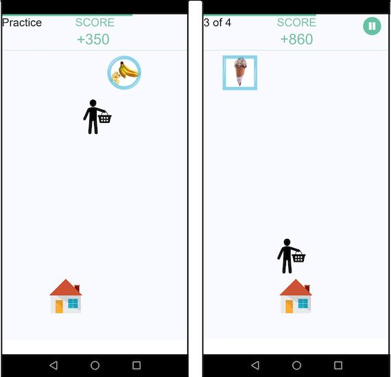 Restrain app screen showing a score of 150 versus 200