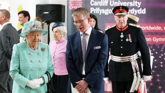 Professor Derek Jones with the Queen