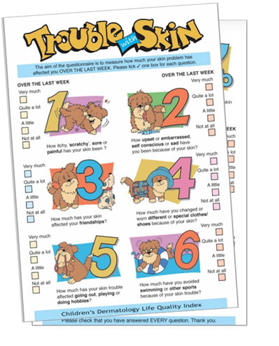 Image of the English version of the cartoon questionnaire.