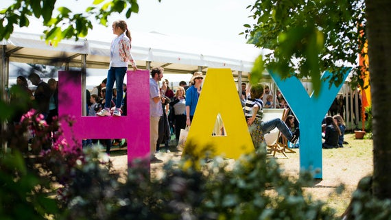 Hay Festival Sign