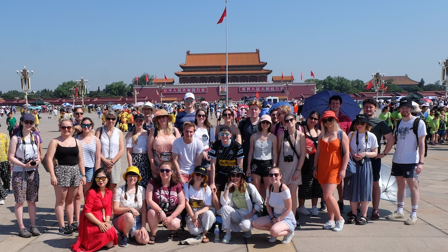 Cardiff University Chamber Choir visiting Tiananmen Square