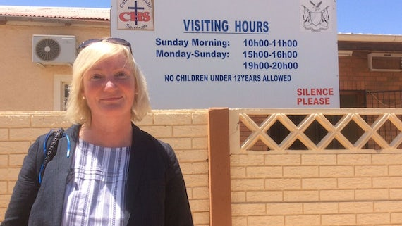 Judith Hall at Hospital in Namibia