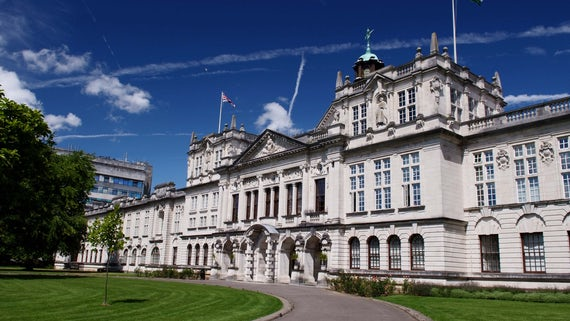 Image of Cardiff University main building.