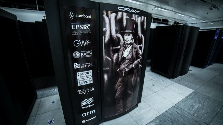 Image of largest arm supercomputer