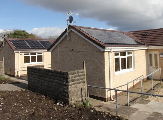 Low-carbon refurbishment of Swansea bungalows