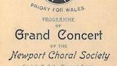 Knights of Malta, Priory for Wales, Programme of grand concert by the Newport Choral Society on behalf of the Newport Centre of the above order (1919).