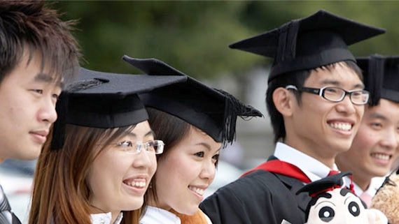 South Korean students at Graduation