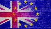 Composite image of UK and EU flag