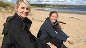 archaeologist Rhiannon Philp showed presenter Tessa Dunlop on the Gower peninsular.