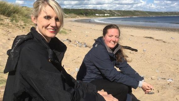 archaeologist Rhiannon Philp showed presenter Tessa Dunlop on the Gower peninsular.