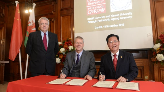 Cardiff University and Xiamen University signing ceremony