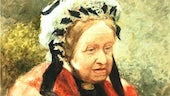 Watercolour painting of older lady