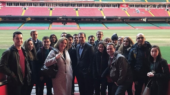 Law students at the Principality Stadium