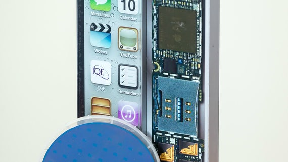 iPhone showing internal components